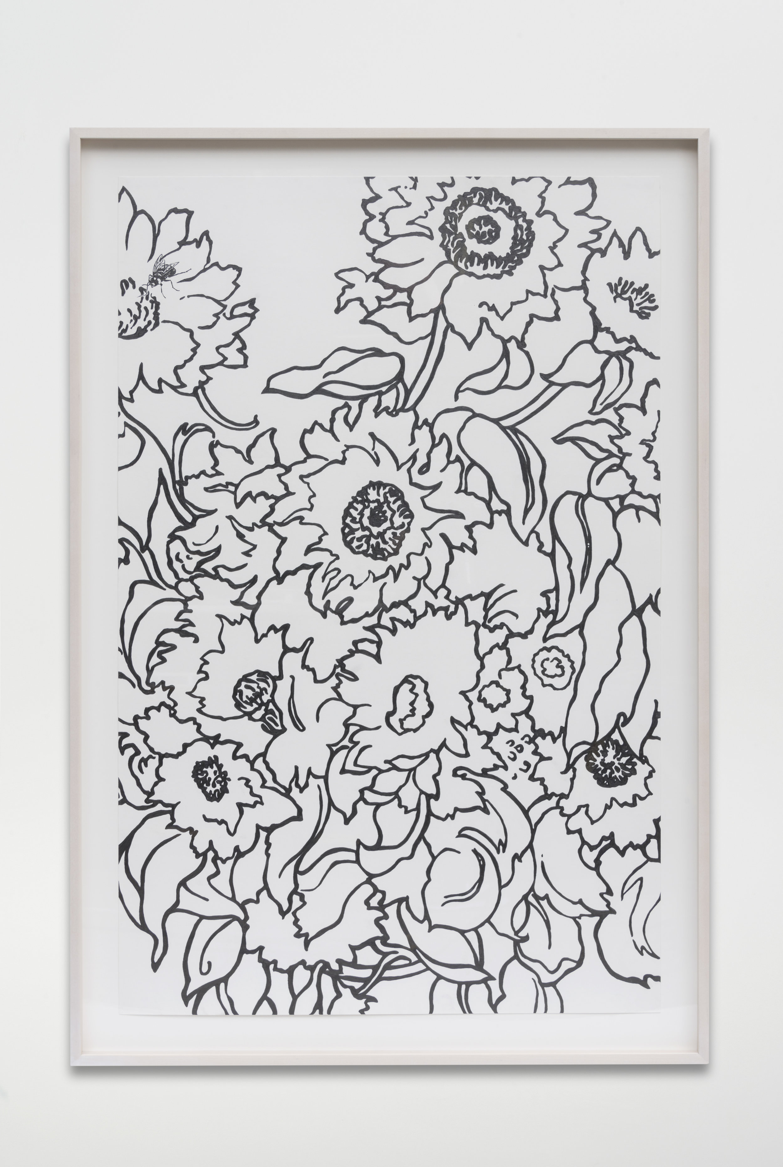 Nathan Mabry, Bouquet (For Claude), 2017 graphite on paper 120,7 x 82,5 x 5 cm - 47 1/2 x 32 1/2 x 2 inches (framed)