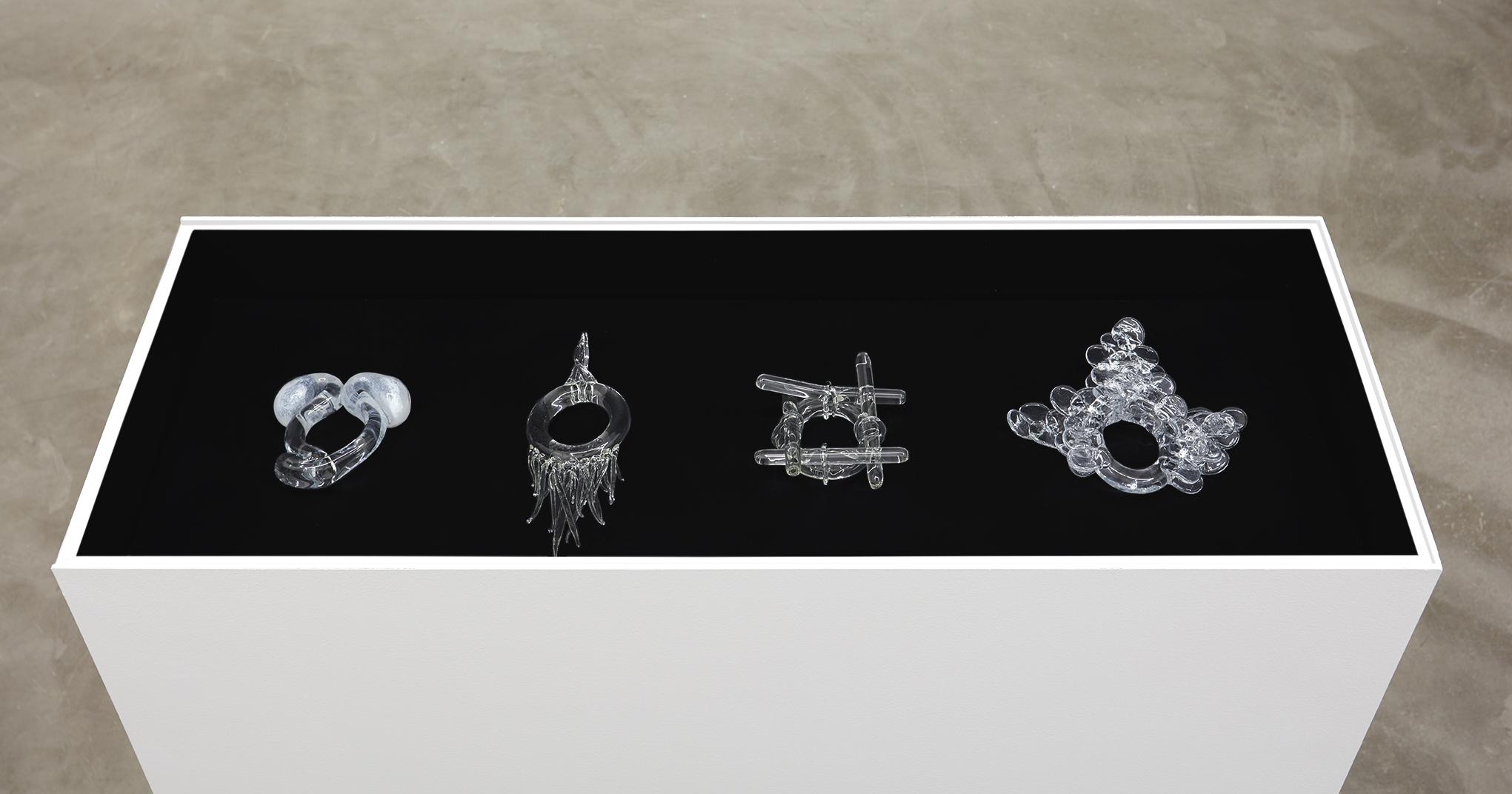 Jean-Luc Verna, Cantillon, Fokine, Galvan, Marie, 2009 glass. 4 individual works variable dimensions