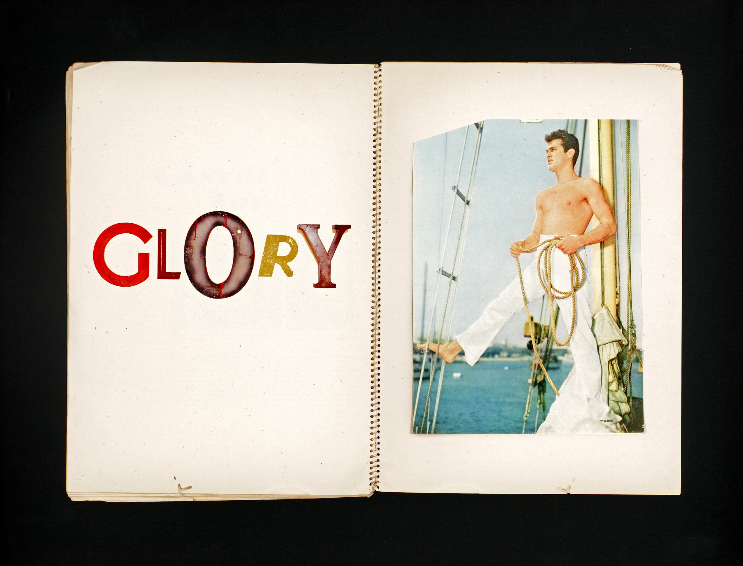Jack Pierson, Twilight (GLORY), 2011 silk screen, archival print, collage edition of 21 95,6 x 104 cm - 37 5/8 x 40 7/8 inches (framed)