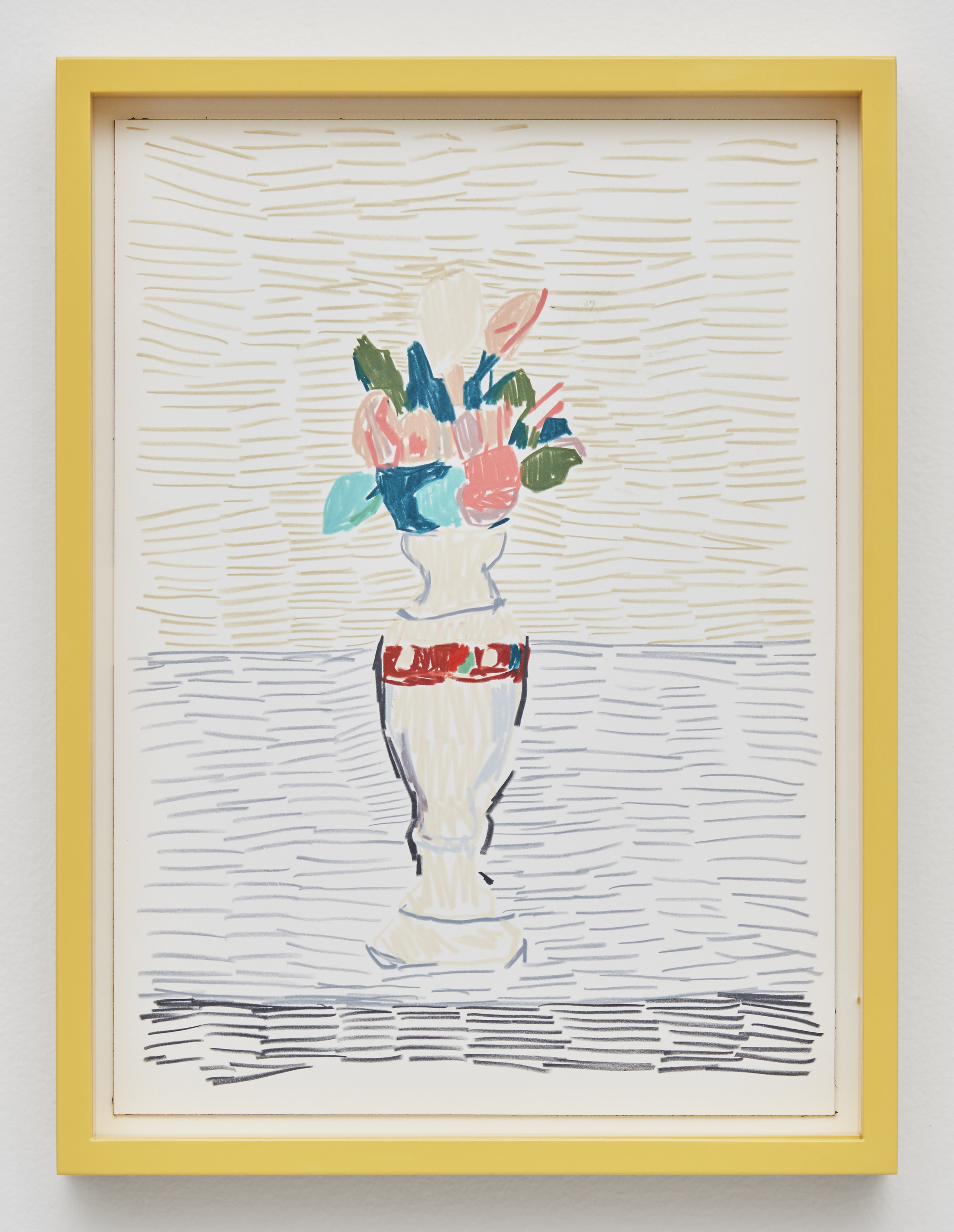 Morandi Flowers, 2017 colored pencil and ink on paper 40 x 30 cm - 15 3/4 x 11 13/16 inches (framed)