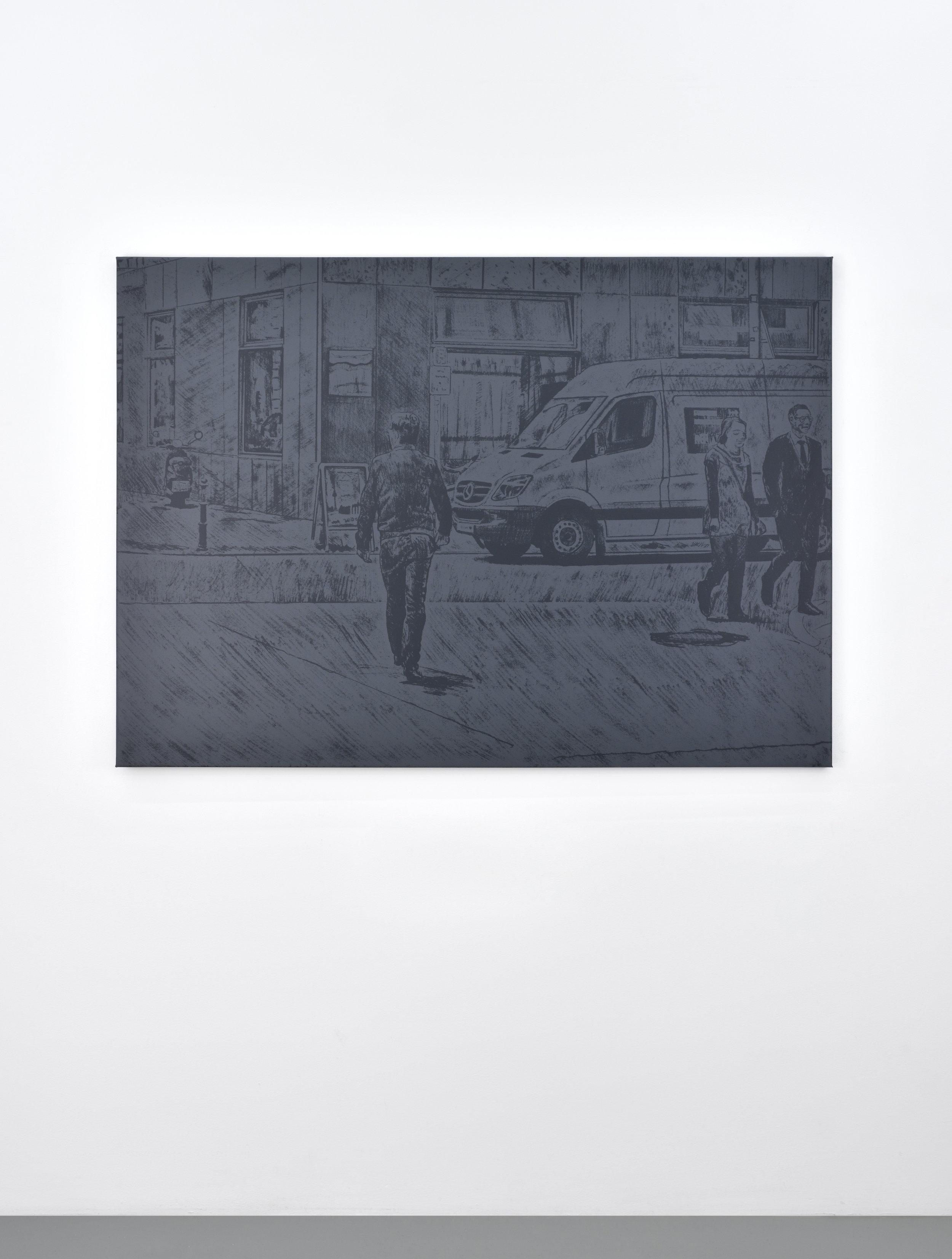 Untitled (van), 2017 silkscreen on canvas 106,7 x 149,2 cm - 42 x 58 3/4 inches