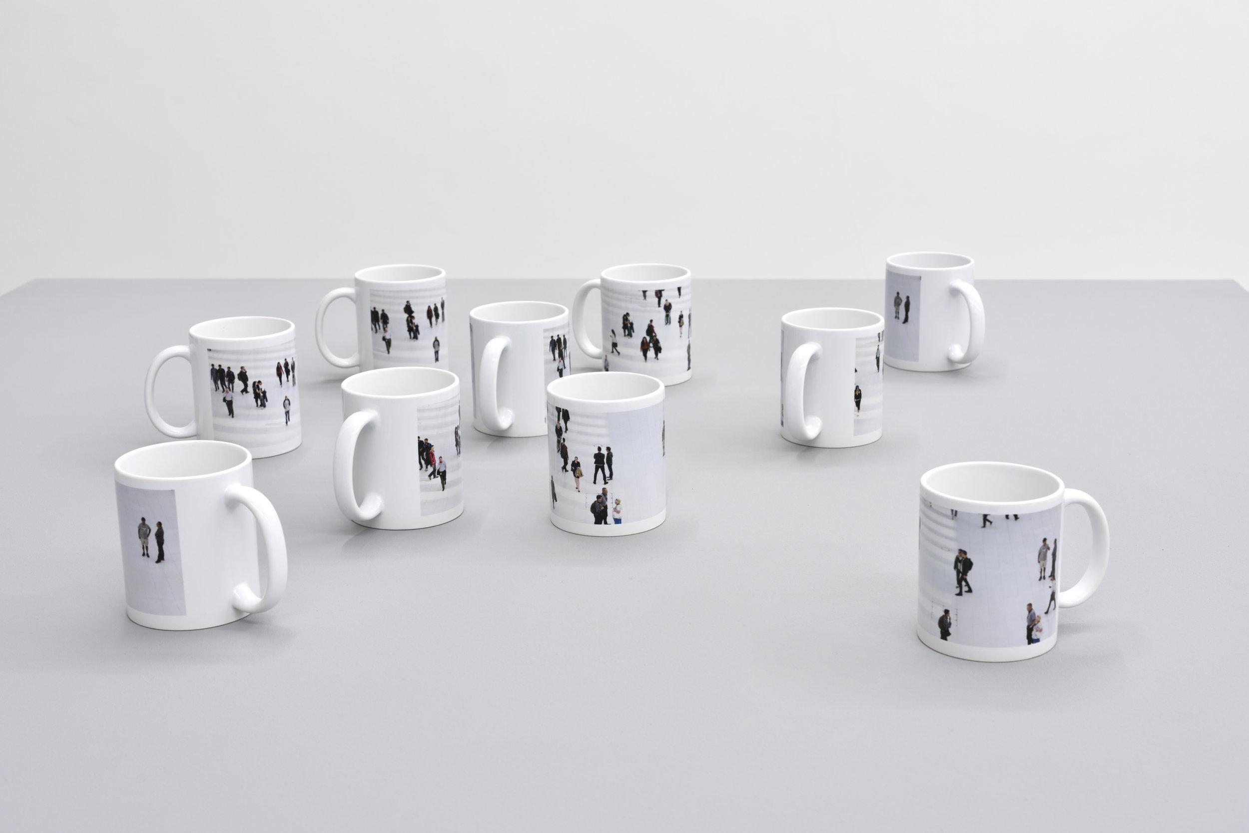 Untitled (mugs), 2017 digital prints on ceramics variable dimensions