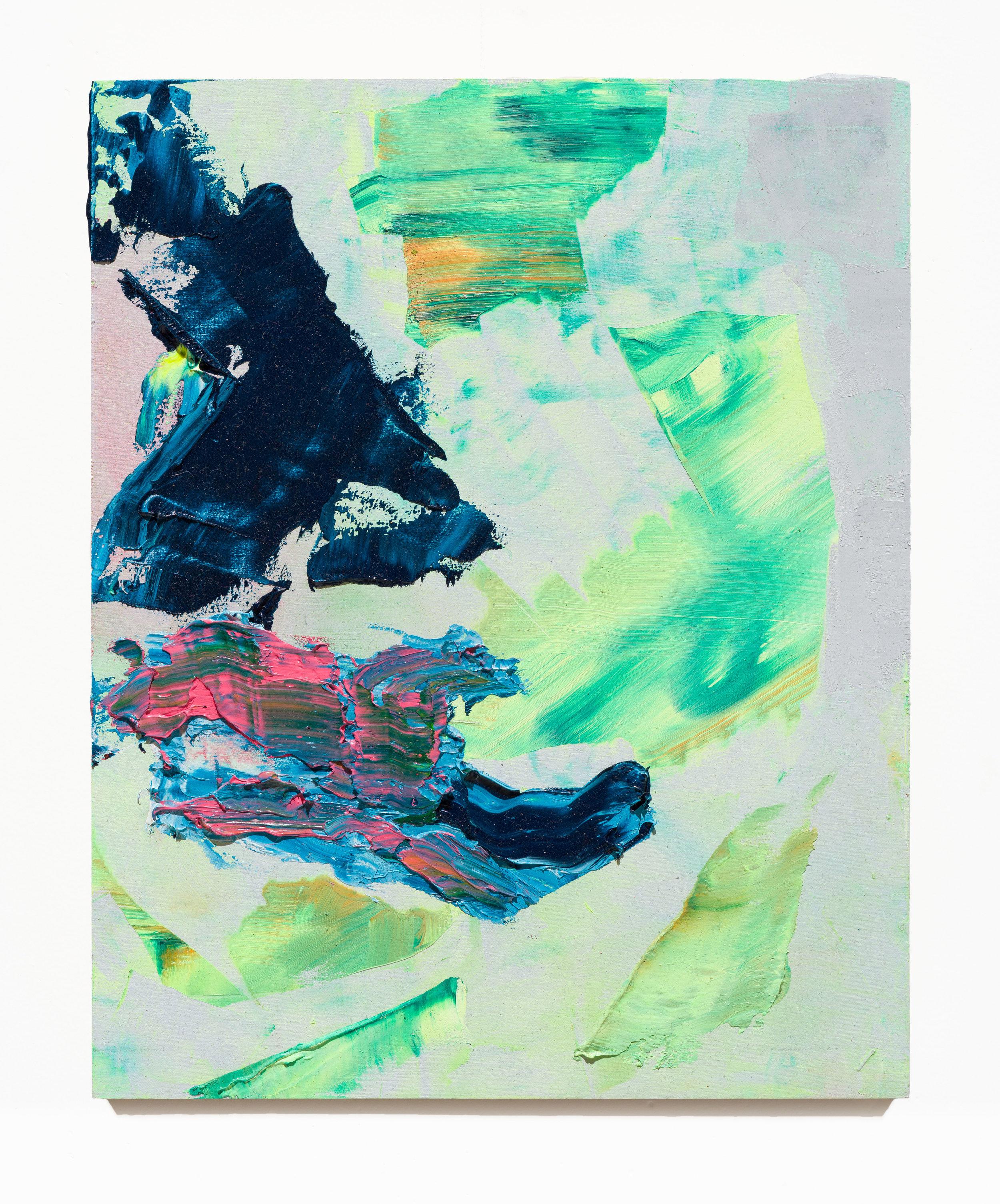 Alexander Kroll Collag e, 2016 oil on panel 20,3 x 15,2 cm - 8 x 6 in