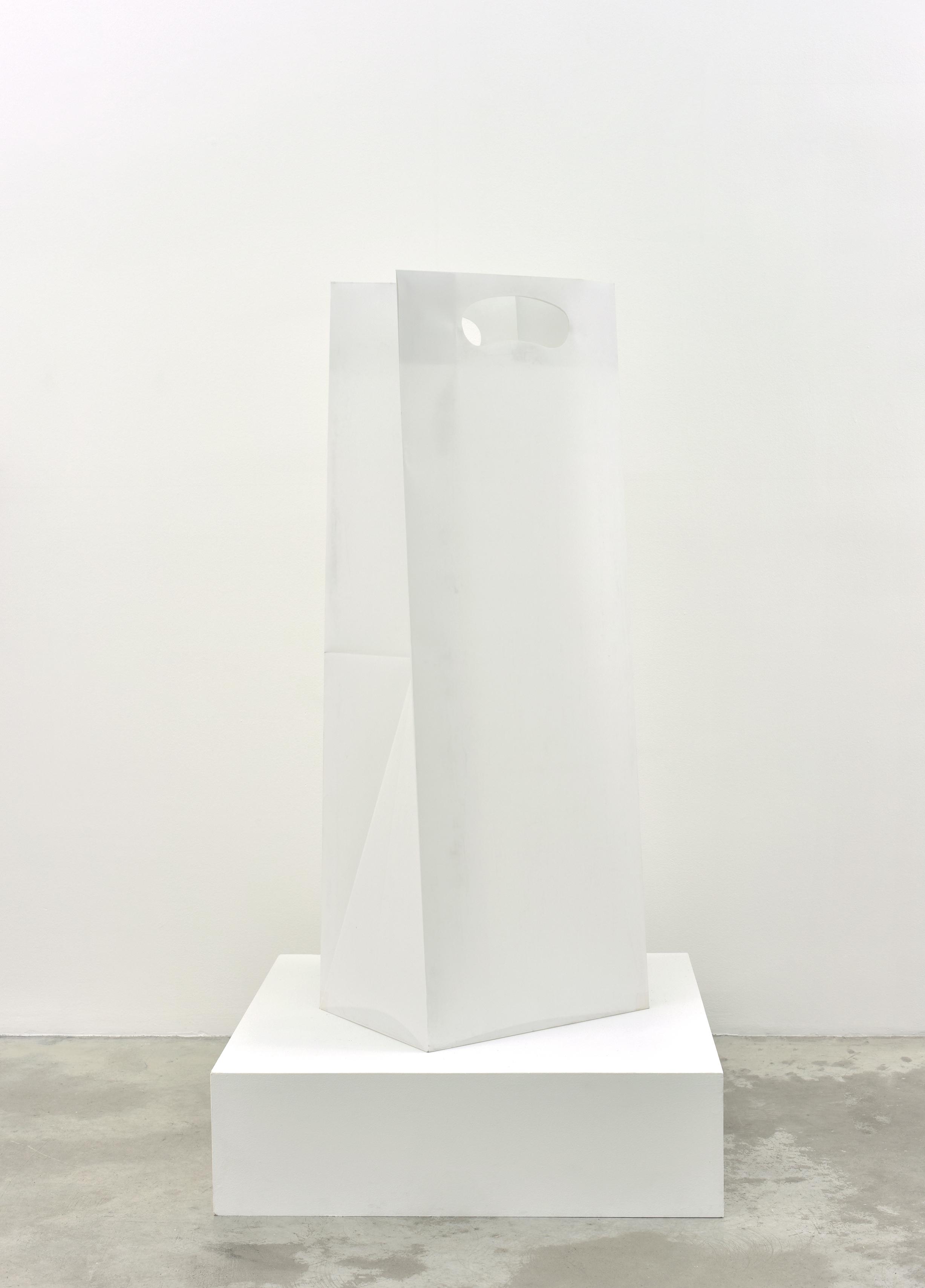 G. Küng Untitled (Shopping Bag), 2014 plastic foil 43 1/2 x 15 11/32 x 9 27/32 in (110,5 x 39 x 25 cm)