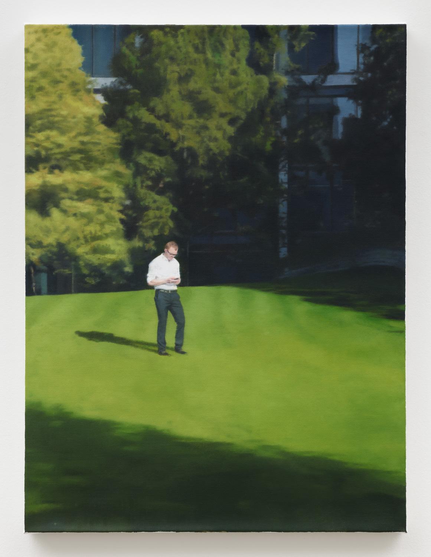 Paul Winstanley   Man in a White Shirt , 2012 oil on linen 39 3/8 x 29 1/2 in - 100 x 75 cm