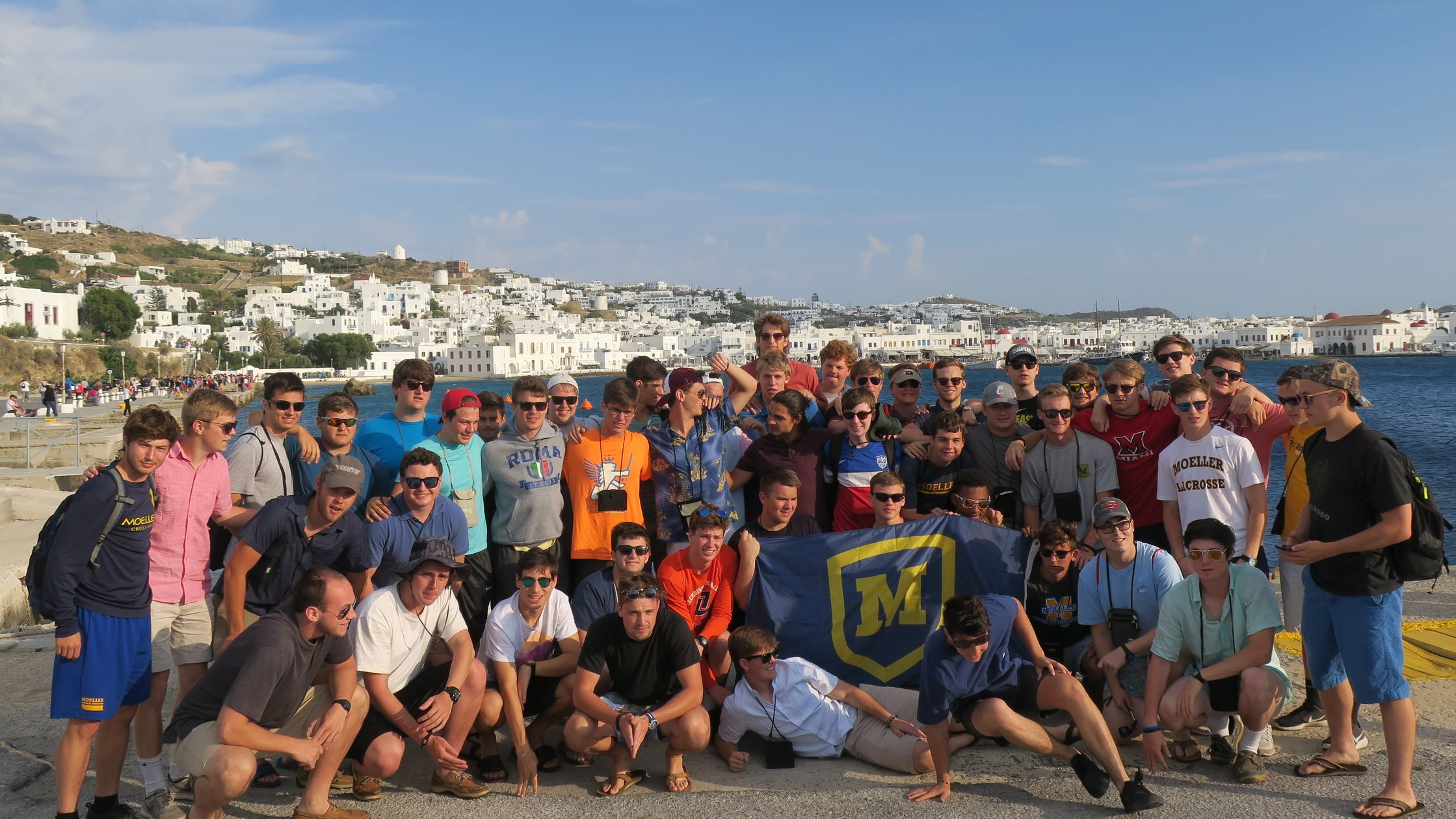 Moeller Class of 2017 visit Greece on their Senior Trip  Photo by: Matthew Jackson