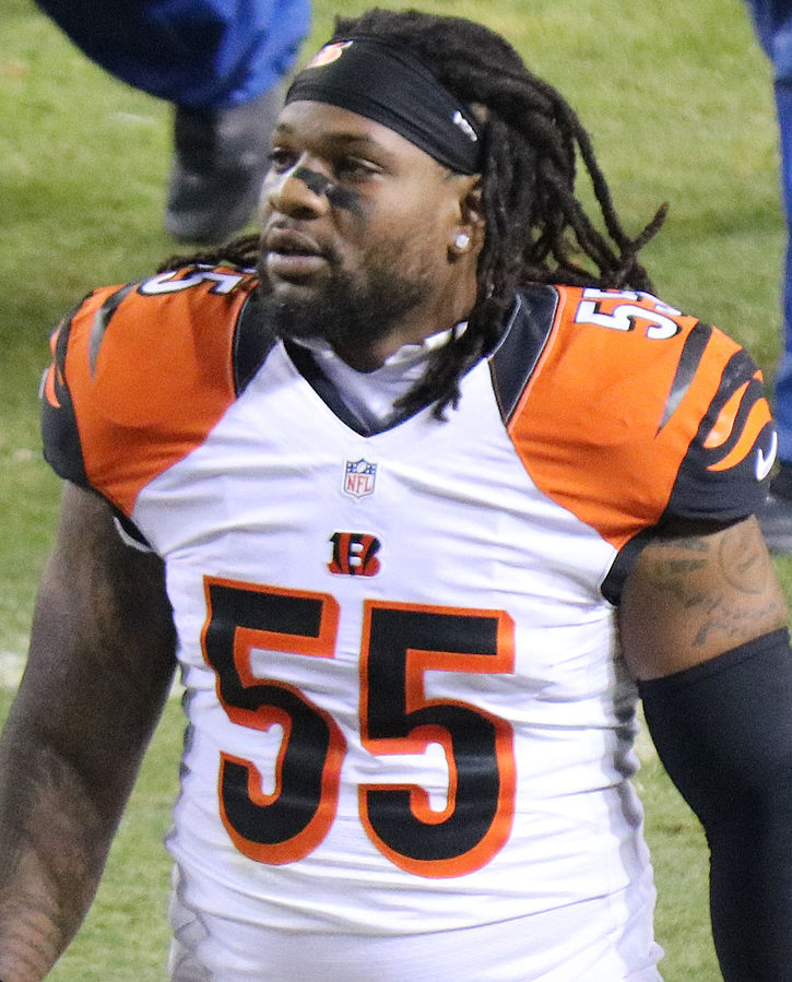 Bengals linebacker Vontaze Burfict. Photo by Jeffrey Beall