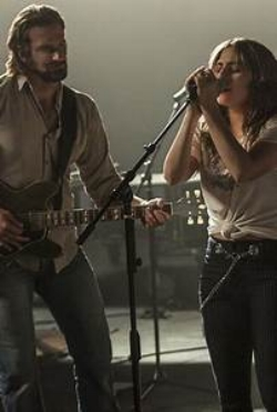Cooper and Lady Gaga in  A Star is Born