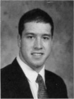 J. Marshall Hyzdu's senior picture, taken from the 1996 Moeller yearbook