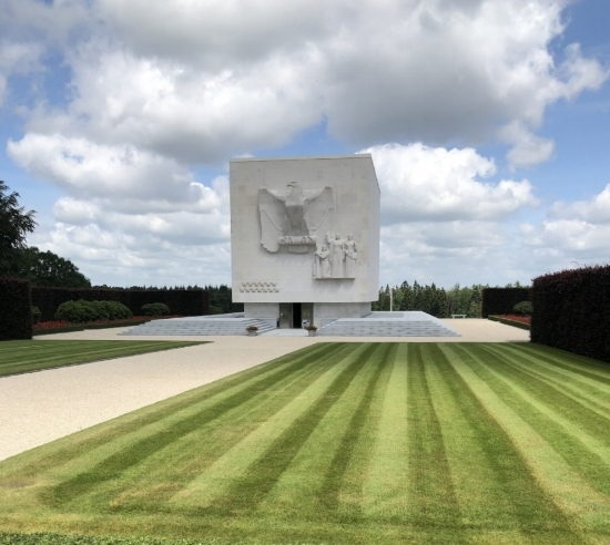 Photo taken by Davis Bianchini at the American Cemetery in Bastogne, Belgium.
