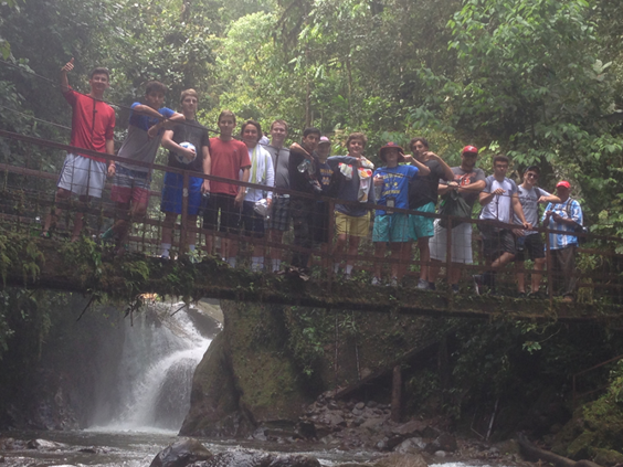 Students hiking near Mindo- Spanish department Moeller High School