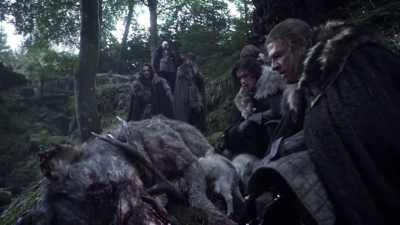 In the books each Stark child can control their wolves with their minds, an ability know as 'warging' in Game of Thrones.