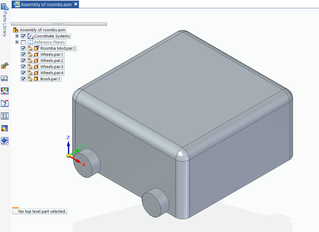 CAD 3D rendering of AC cleaning robot
