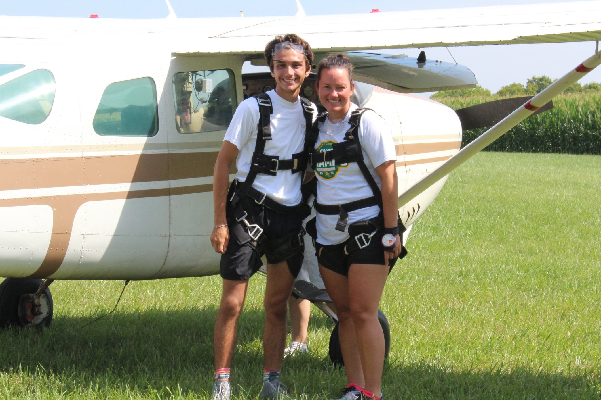 I jumped out of a plane for my 18th birthday with my cousin.  Picture By: Amy George