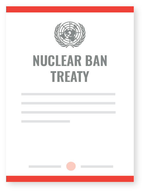 On July 7th, 2017 the UN adopted the Treaty on the Prohibition of Nuclear Weapons. This historic treaty bans nuclear weapons, and all activities related to them. But the #nuclearban is only the first step. For a world free of nuclear weapons, we need everyone. -