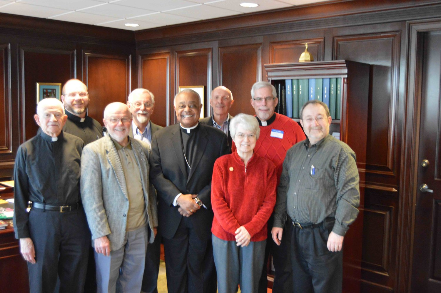 Atlanta Archbishop Wilton Gregory welcomes Assembly planners in January 2017.