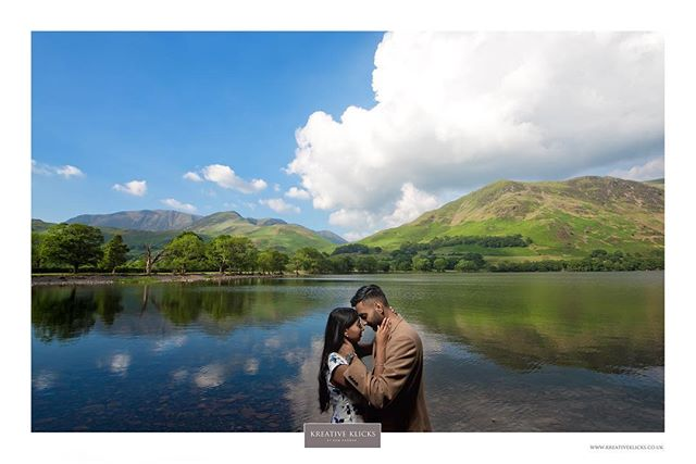 A daytime shot from 1 of the weekends prewed shoots. What a backdrop!!! . #prewedshoot #prewed #engagement #weddingphotography #hills #mountains #lushgreens #lake #lakedistrict #trees #sheep #goats #countrylife #reflection #clearwater #nofilter #cumbriashoot #clouds #summerweather #nikon #kreativeklicks . www.kreativeklicks.co.uk info@kreativeklicks.co.uk 07931 535 430