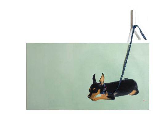 내개 기다림은 너무 길어요, 120 ×90 cm 장지에 채색 , 오브제(2006)