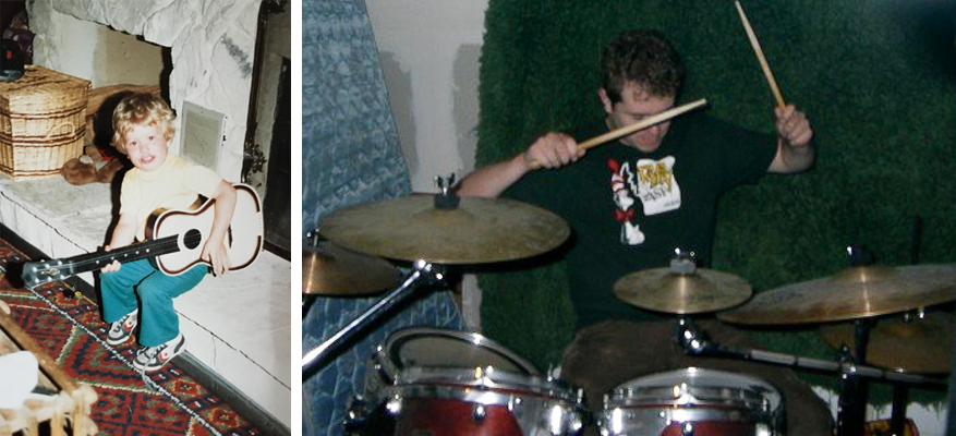 I was always a curious and independent kid. I tended to be most comfortable doing something creative on my own, especially playing music...although, apparently having kick ass shoes has been a running theme, as well.