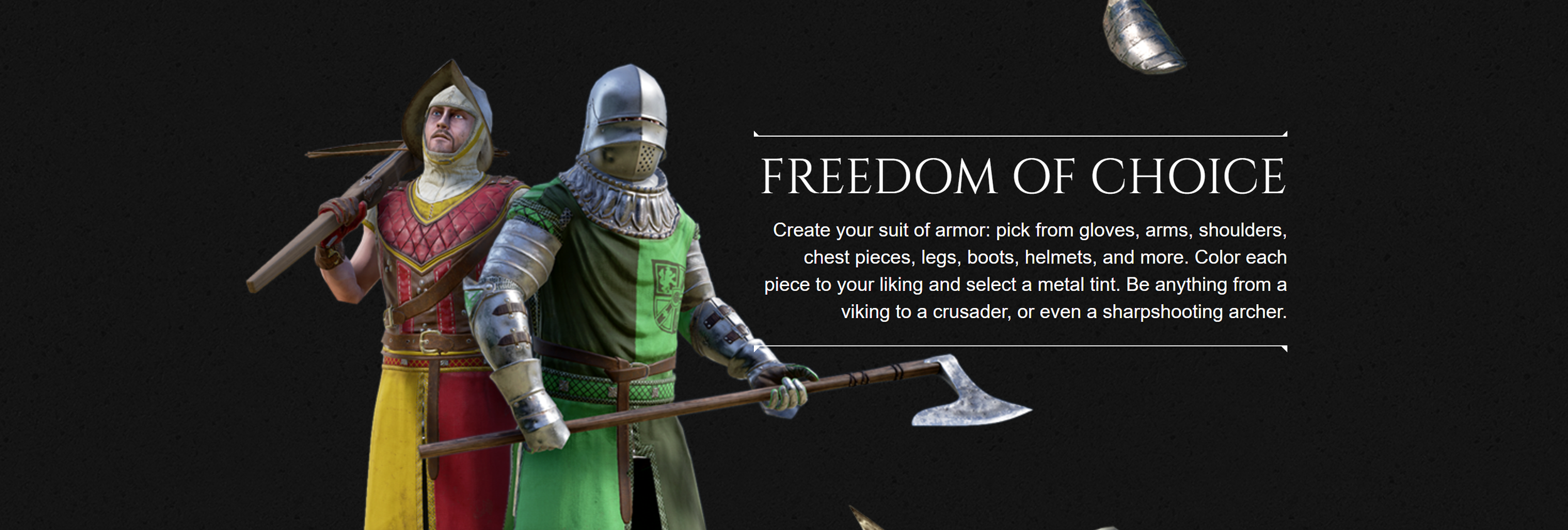 Screen capture from Mordhau  official website