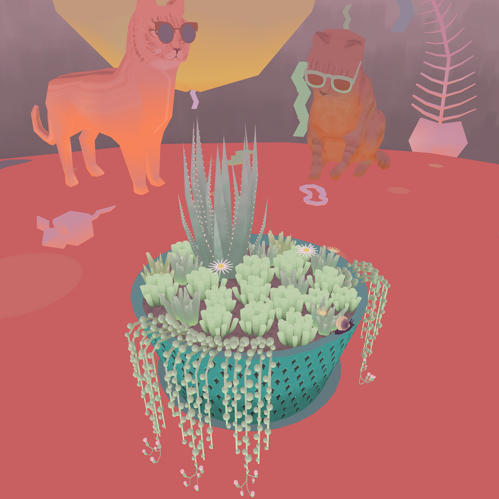 Everyone can enjoy shouting at some virtual plants.