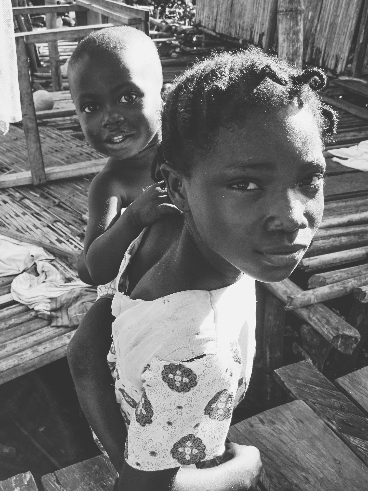 Children from Nzulezo, the village on stilts | Photo by Caroline Taft,  The Brazen Gourmand