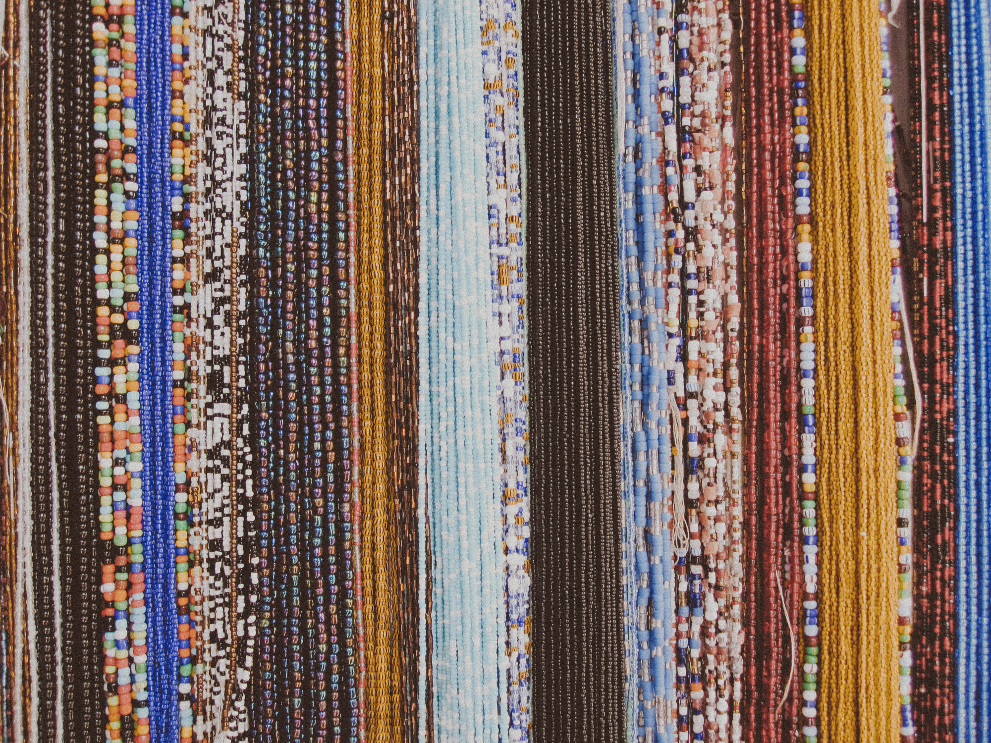 Glass beads from a roadside stand in Cape Coast | Photo by Caroline Taft,  The Brazen Gourmand