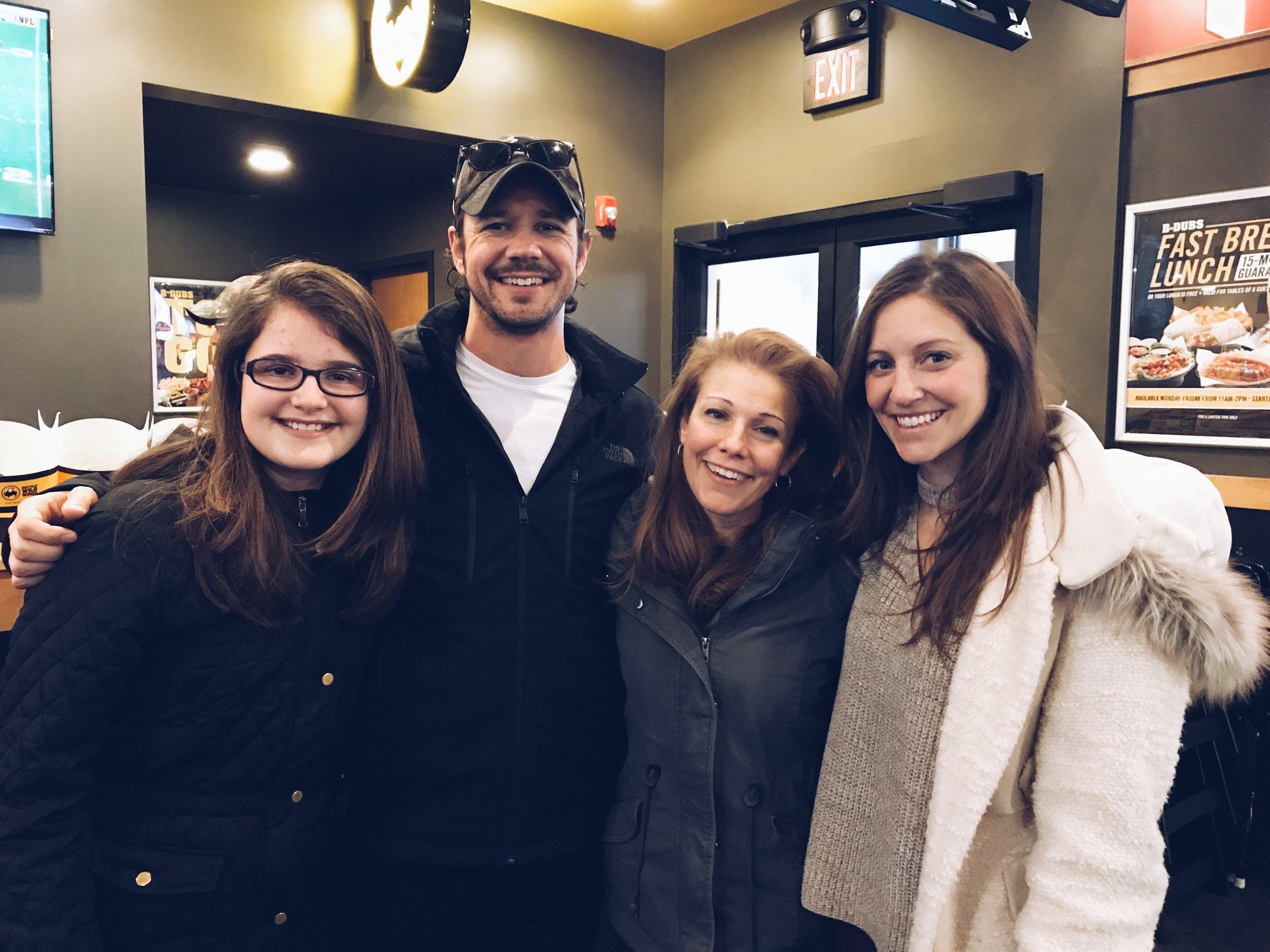 My niece Isabella, Chris, my sister Maria and I