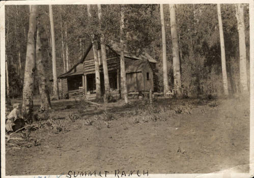 """Hochderffer House"" in Summit Ranch in the late 1800's."