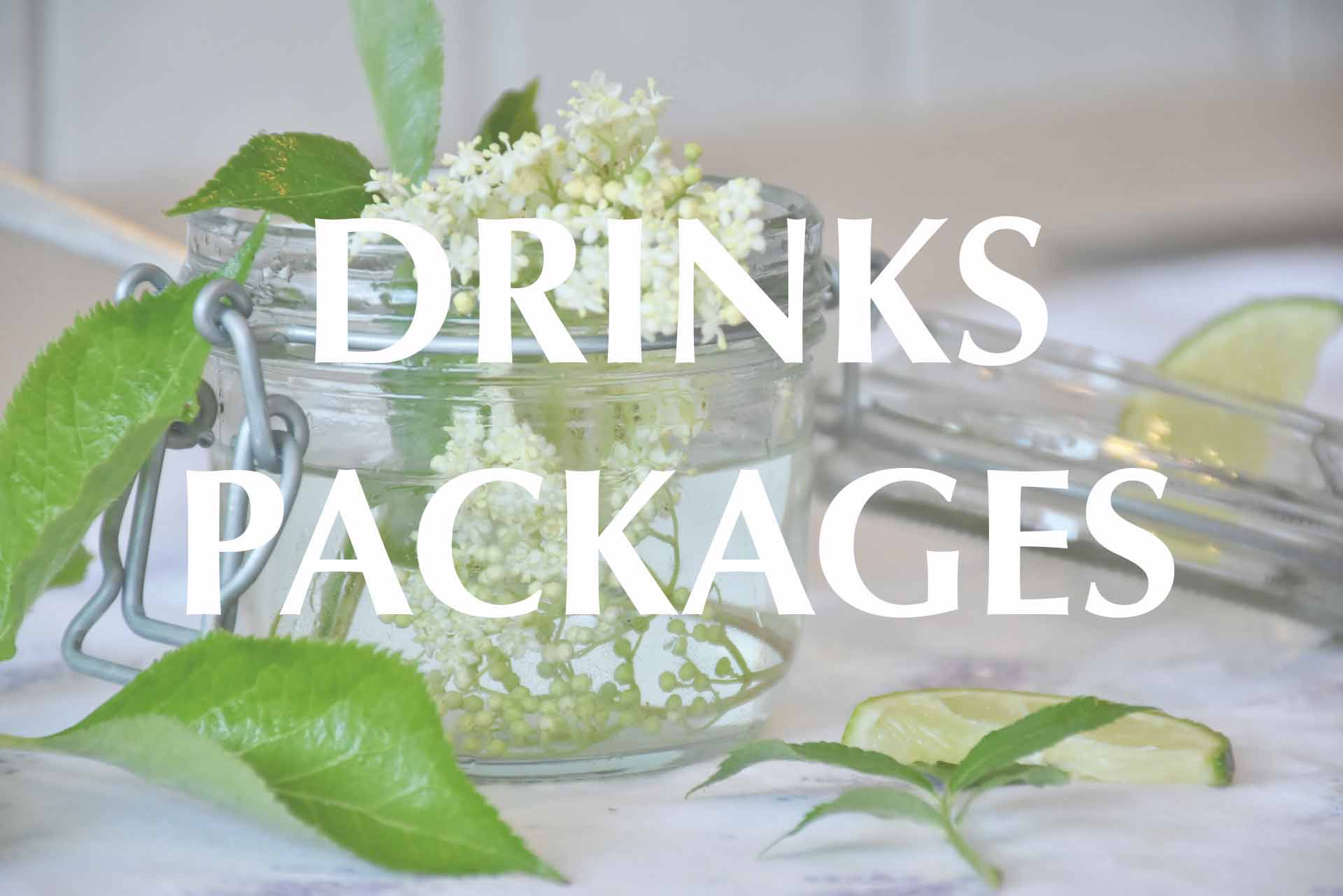Click here to read the drinks options for Drinks Package A