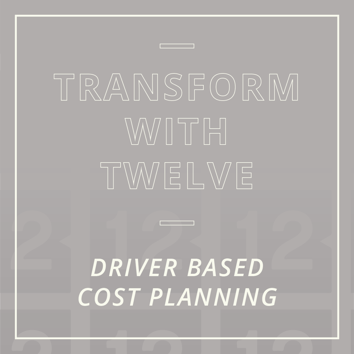 Driver Based Cost Planning