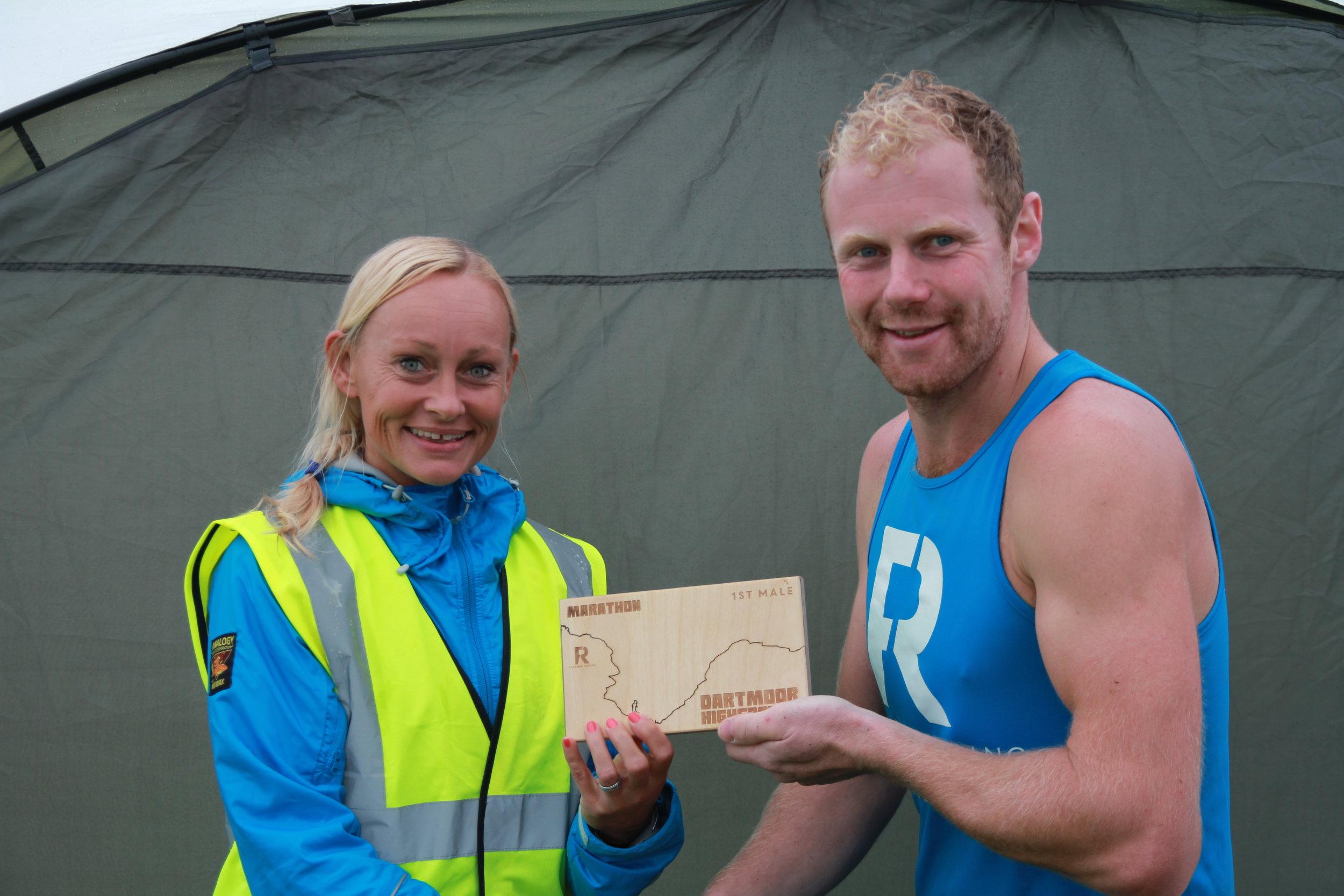 Freedom Racing Athlete winning the Dartmoor Marathon