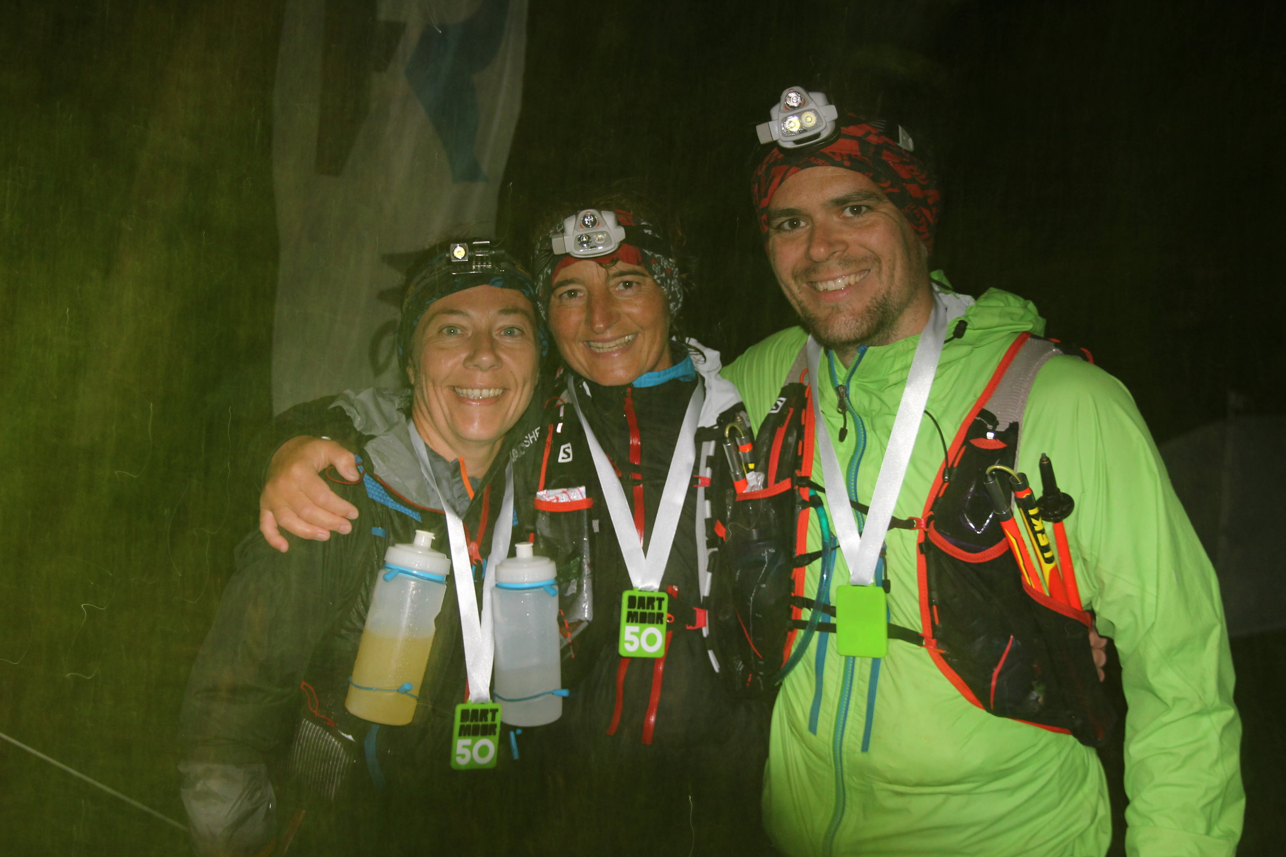 Dratmoor 50 finishers coming in after dark