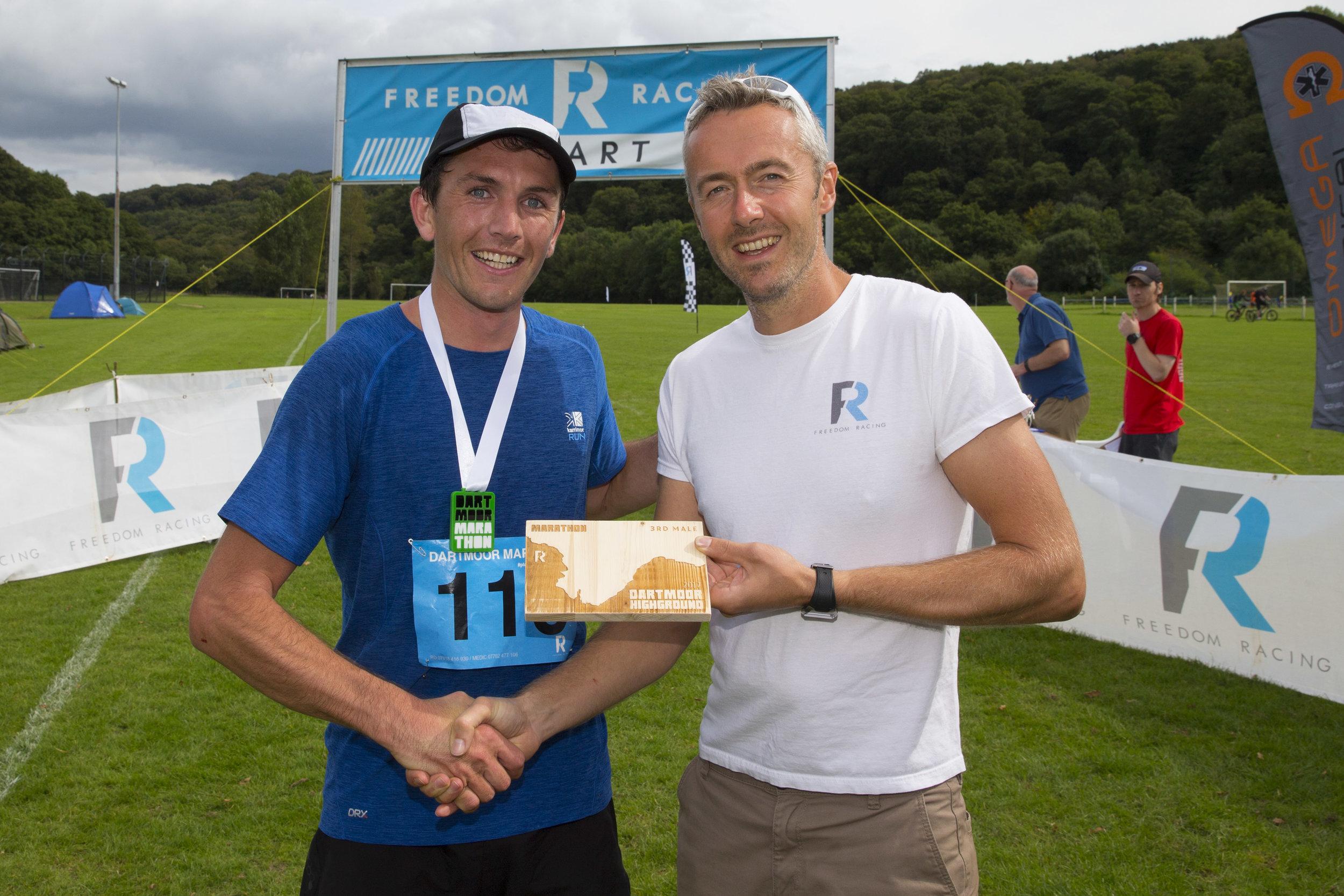 2017 Dartmoor Marathon 2nd place