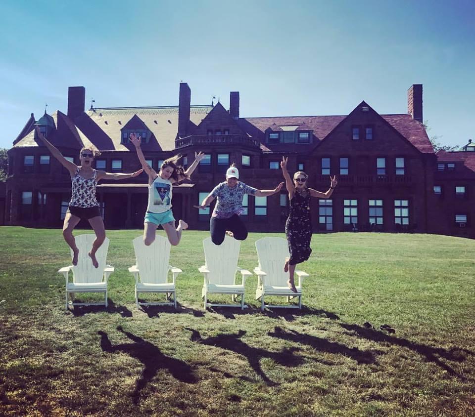 Enjoying Newport, RI before playing a wedding ceremony! L-R: Jamie Thiesing, Brittany Stockwell, Sylvia DiCrescentis, Kathryn Haddad.