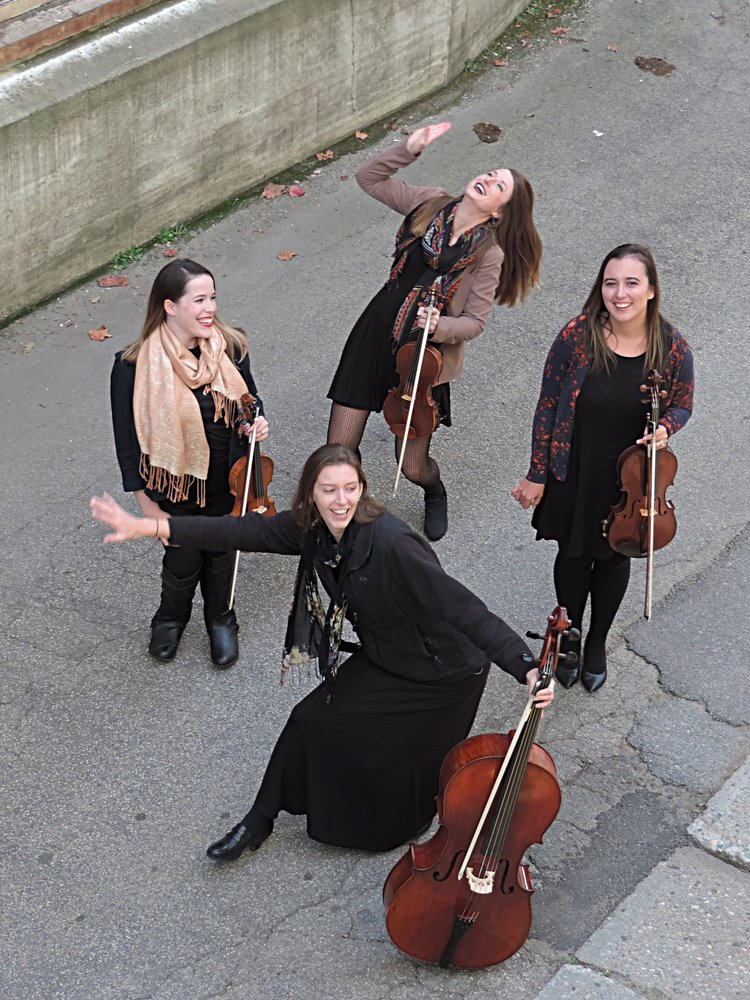 Laura Sousa Wagner (right), Brittany Stockwell (back), Jamie Thiesing (front), Sylvia DiCrescentis (right).