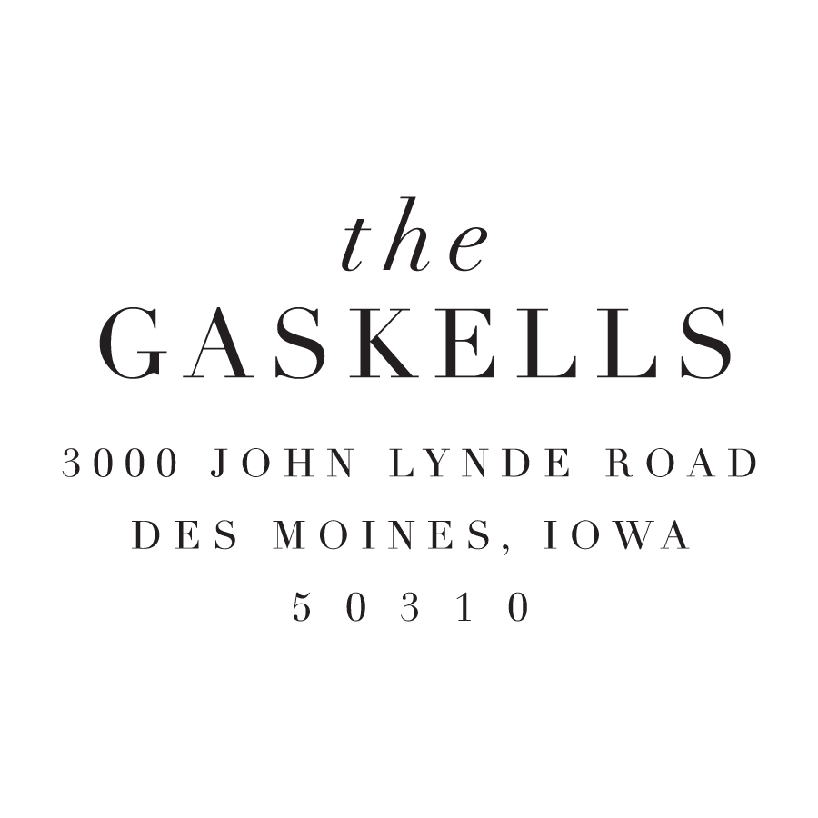 STAMP NAME: THE GASKELLS
