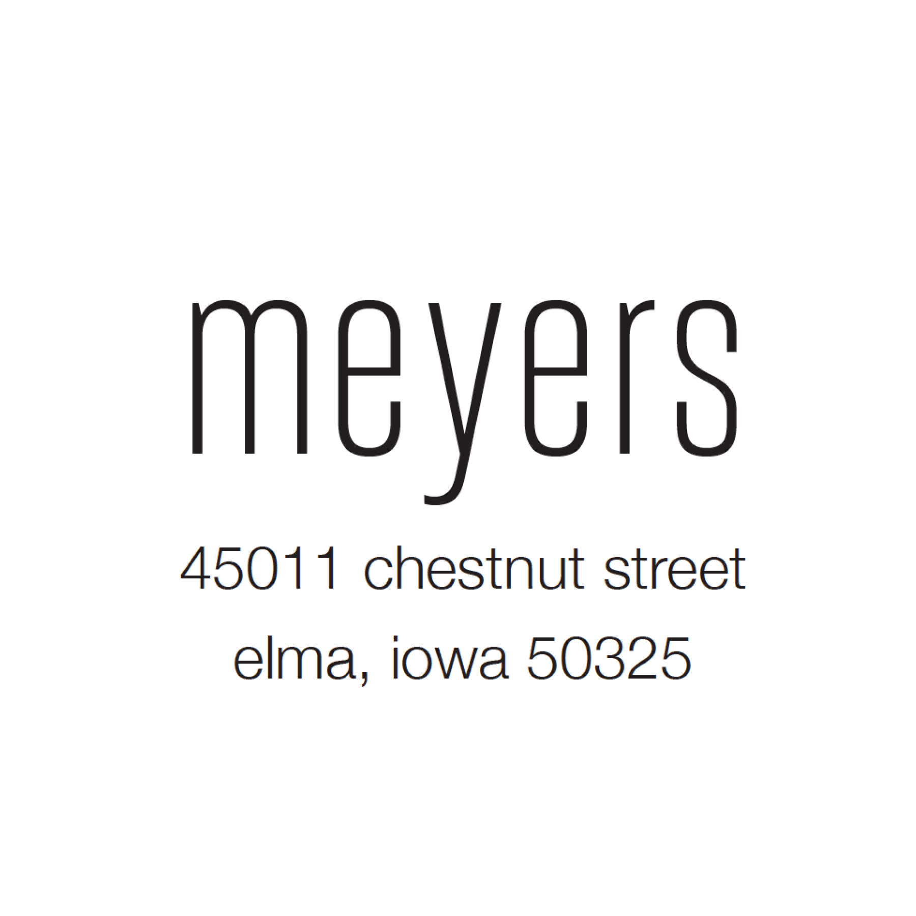 STAMP NAME: MEYERS