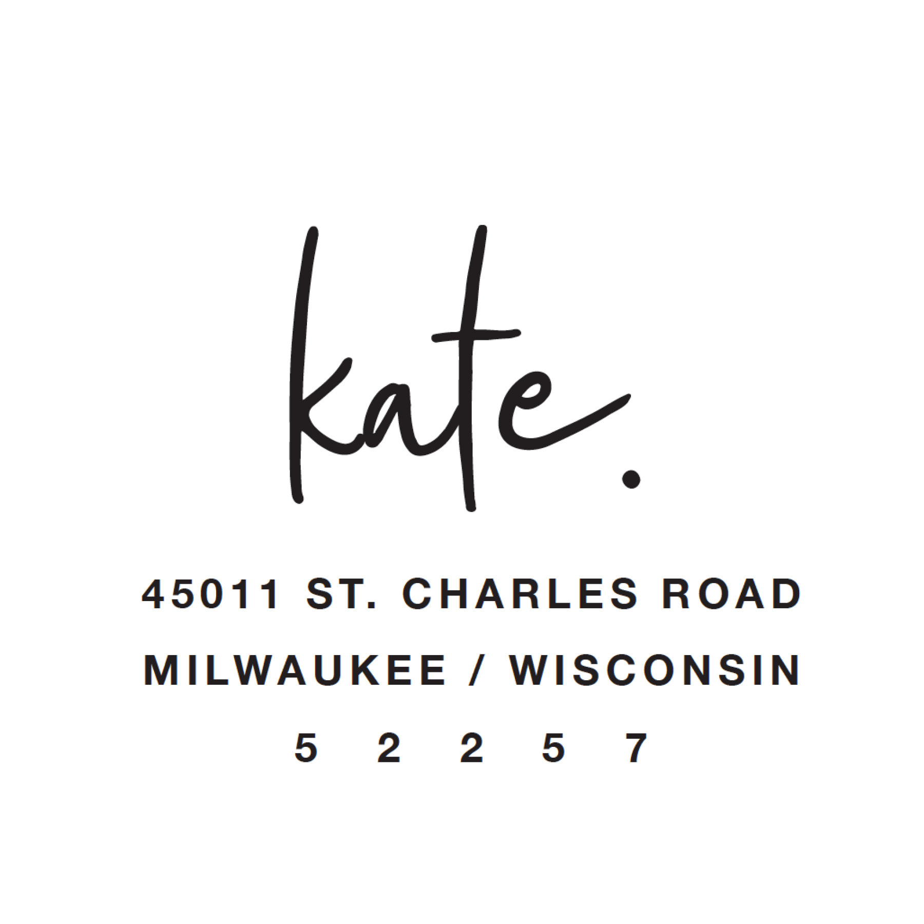 STAMP NAME: KATE.