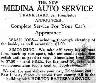 Medina Auto Service adv 1932.jpg