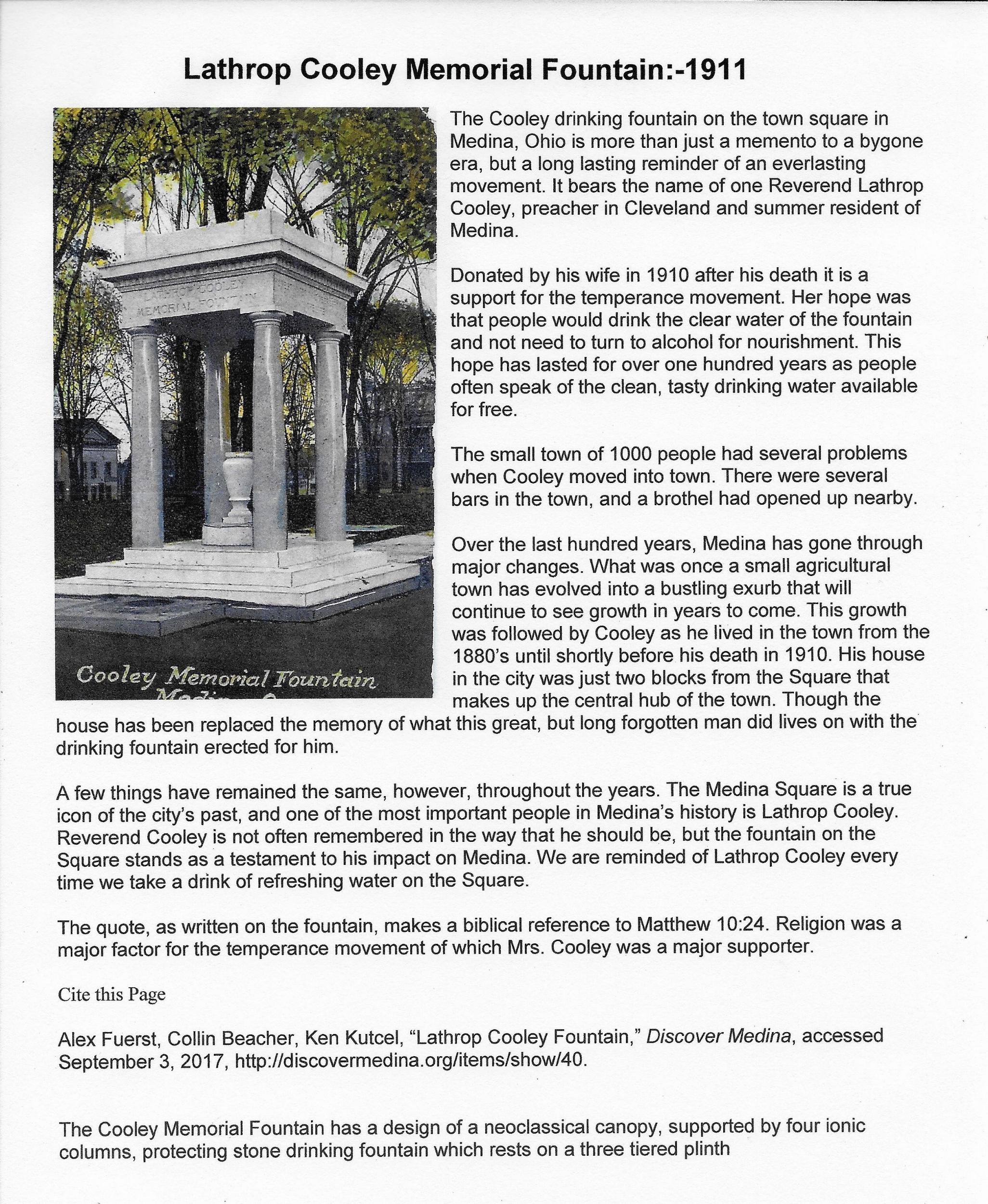 Lathrop Cooley Memorial Fountain 1911.jpeg