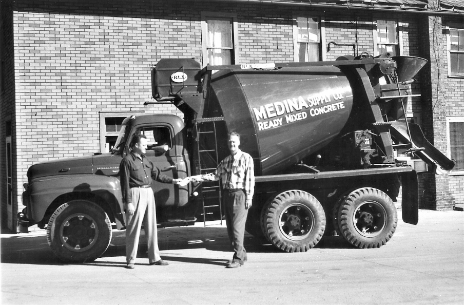 Co-owners Elbridge Moxley, left and John Moxley, right, Medina Supply Company