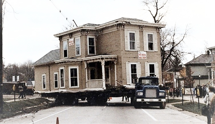 Munson house moved to Prospect Street in 1985.