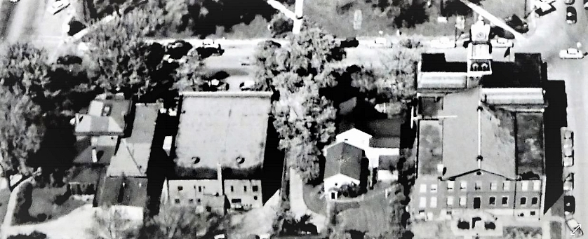 Aerial Rear View of East-side Public Square - 1957