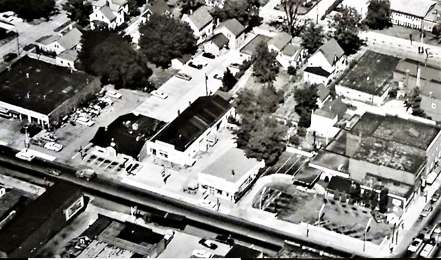 Aerial View North Court Street-1957