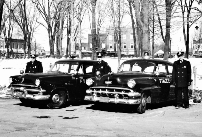 Medina City Police Department, Medina, OH - 1954    Left to Right: Sgt. Merle Frederick, Chief H. C. Davis, Sr., and Ptl. Harry Indoe