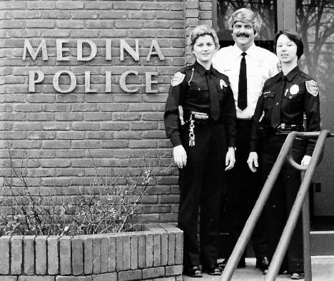Nancy Labadie, Chief H. C. Davis Jr.and Diane Ganyard