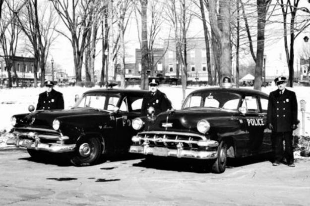 Medina City Police Department, Medina, OH - 1954    Left to Right: Sgt. Merle Frederick, Chief H. C. Davis, Sr., and Ptl. Harry Indoe