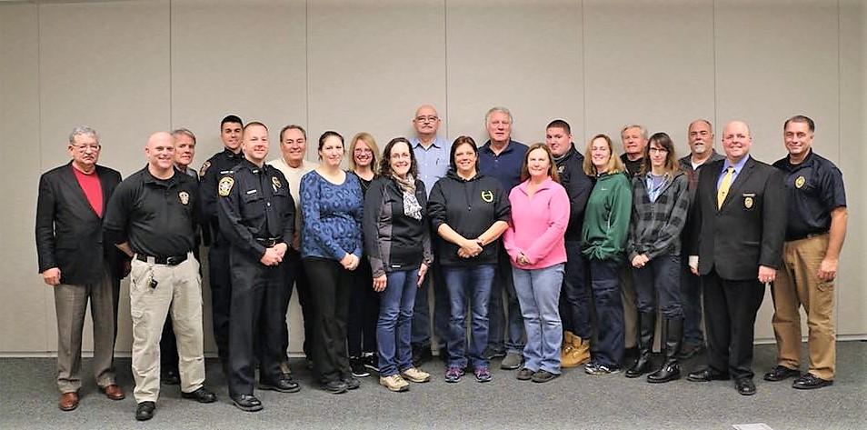 Pictured above is a recent class of citizen academy graduates.   �