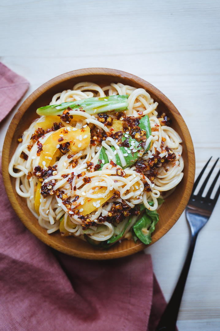 Peanut Noodles with Sichuan Chili Oil - The Maker Makes